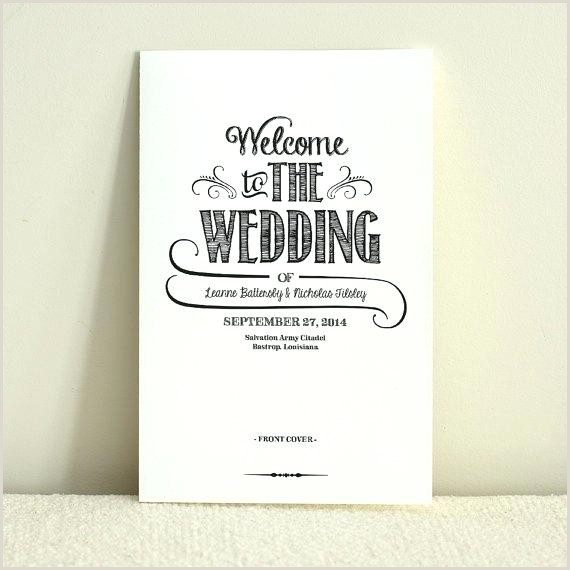 Wedding Program Templates Etsy Wedding order Of Service Template