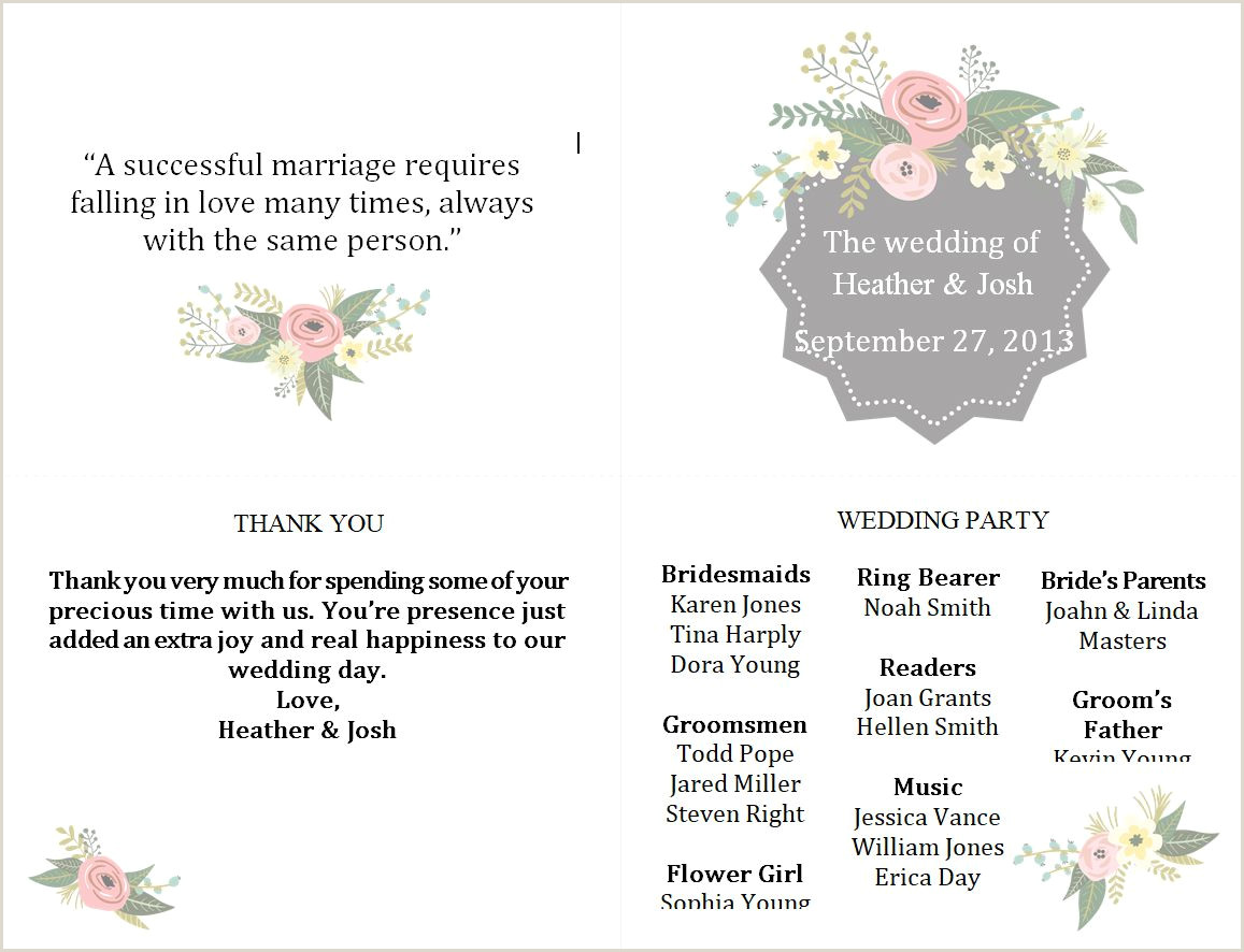 Wedding Program Wording Template Free Wedding Program Templates You Can Customize
