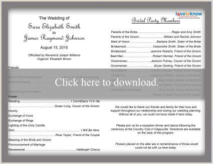 Wedding Reception Program Sample Free Wedding Program Templates