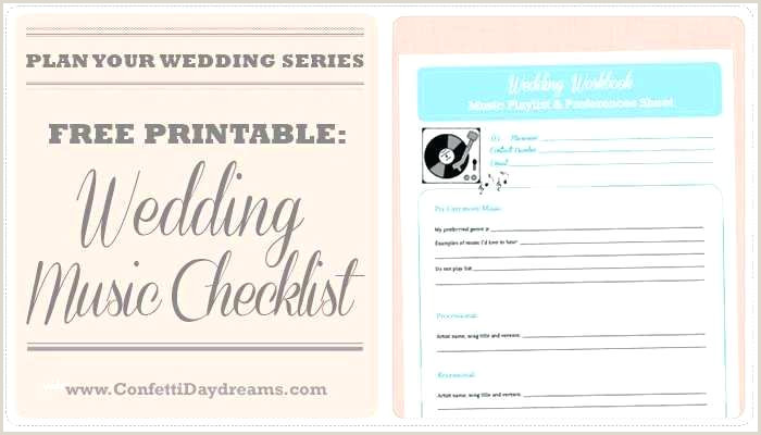 Wedding song Playlist Template Wedding Wedding Reception Checklist Music song List for