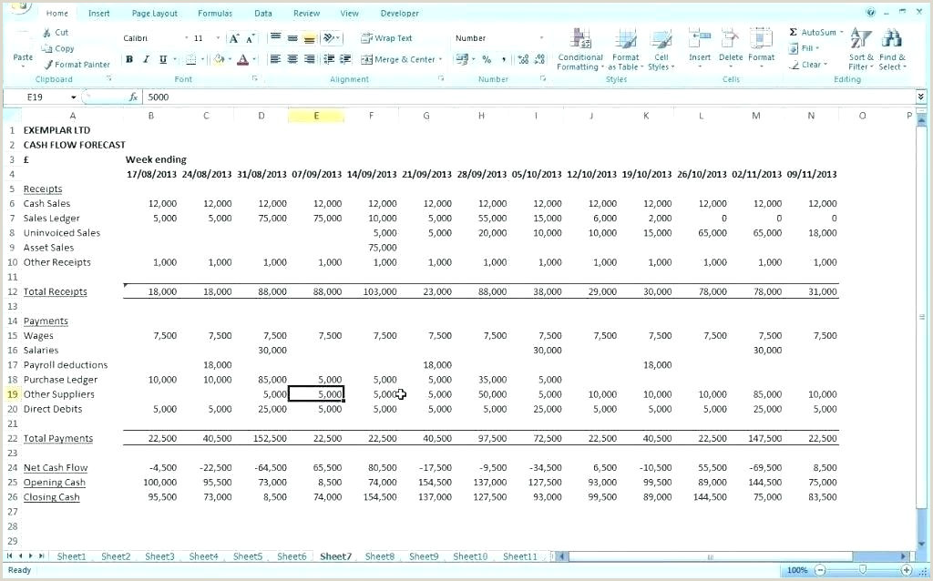 Weekly Cash Flow Template Weekly Cash Flow Projection Template Free Cash Flow Excel