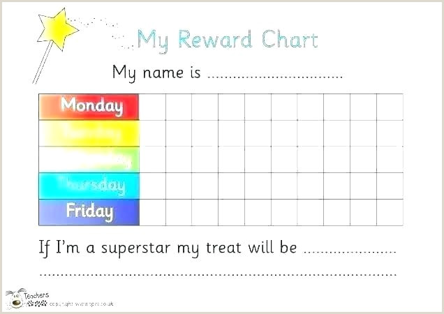 Weekly Reward Chart Printable Blank Behavior Chart Template