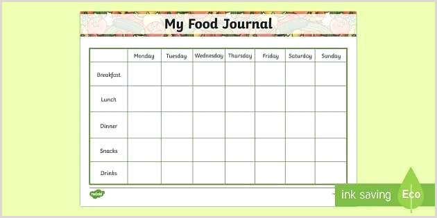my food journal template