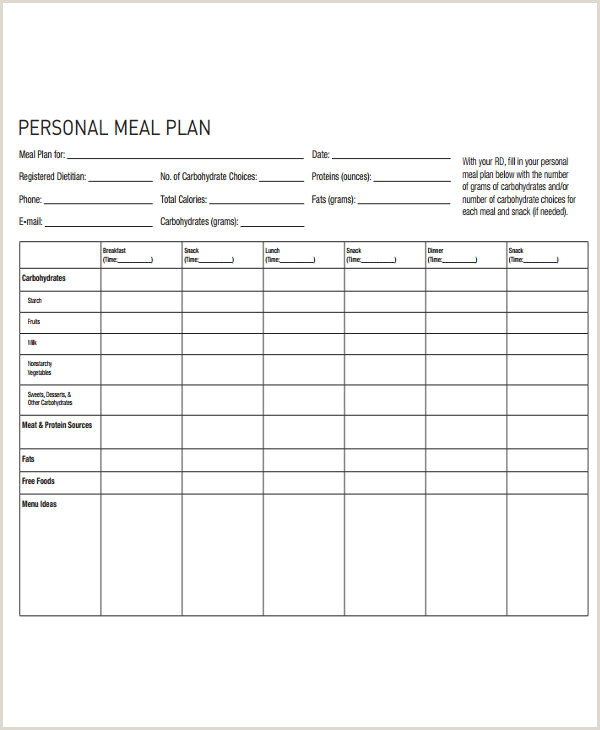 Weight Watchers Meal Planner Template 10 Diet Plan Templates Free Sample Example format