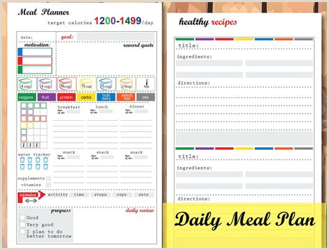 Weight Watchers Meal Planner Template Pinterest – Пинтерест