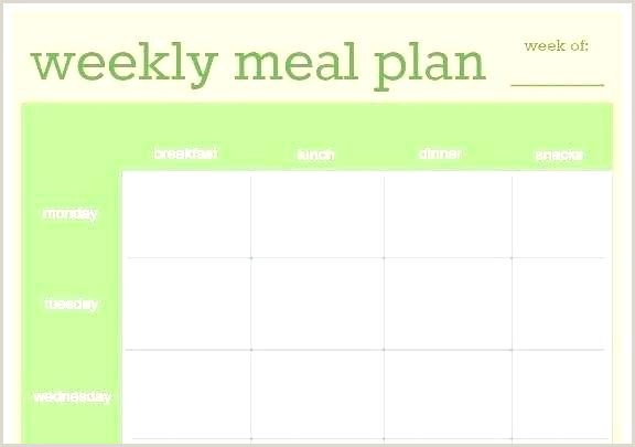 Weight Watchers Menu Planner Template Excel Weekly Meal Planner Calendar Template Prep