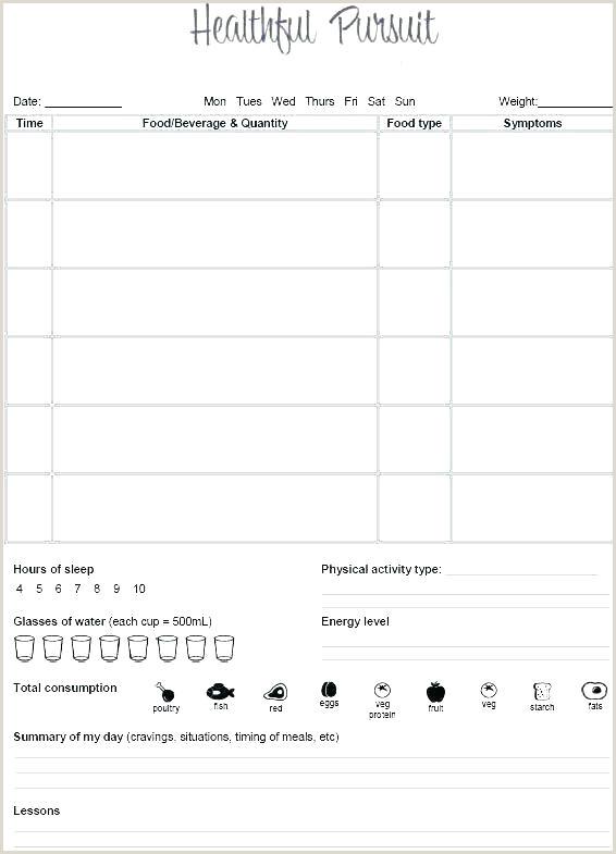 Weight Watchers Menu Planner Template Meal Plan Journal Template