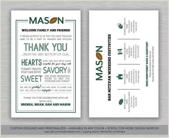 Welcome Bag Itinerary Template Mitzvah Letter and Itinerary • Hotel Wel E Bag • Bar Mitzvah Wel E Note • Bat Mitzvah Wel E Note • Mitzvah Timeline