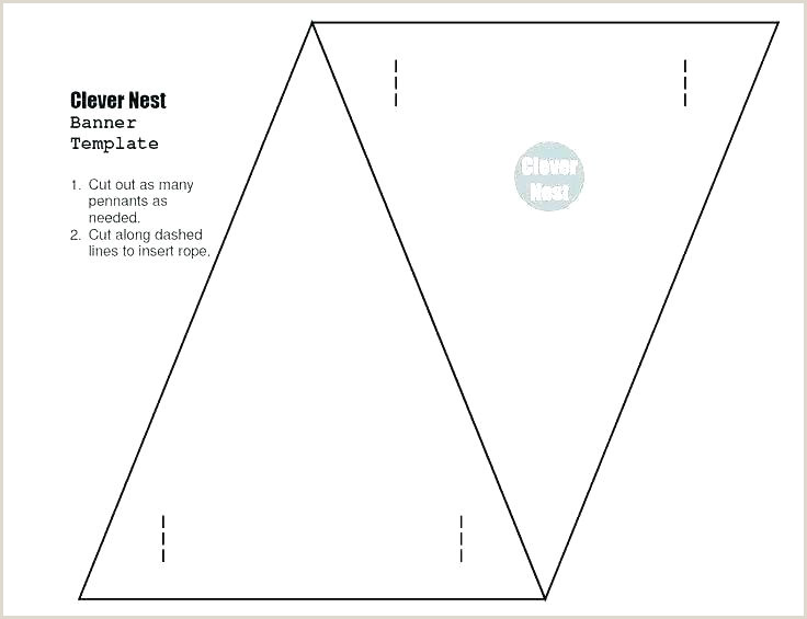 Banner Template Word Cut Out Triangle Printable Pennant