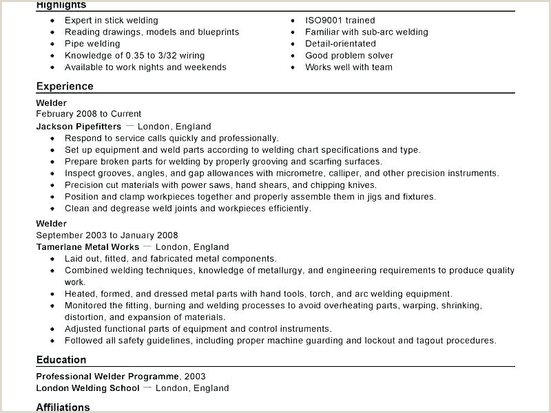 Welder Resume Samples Welders Resume – Emelcotest