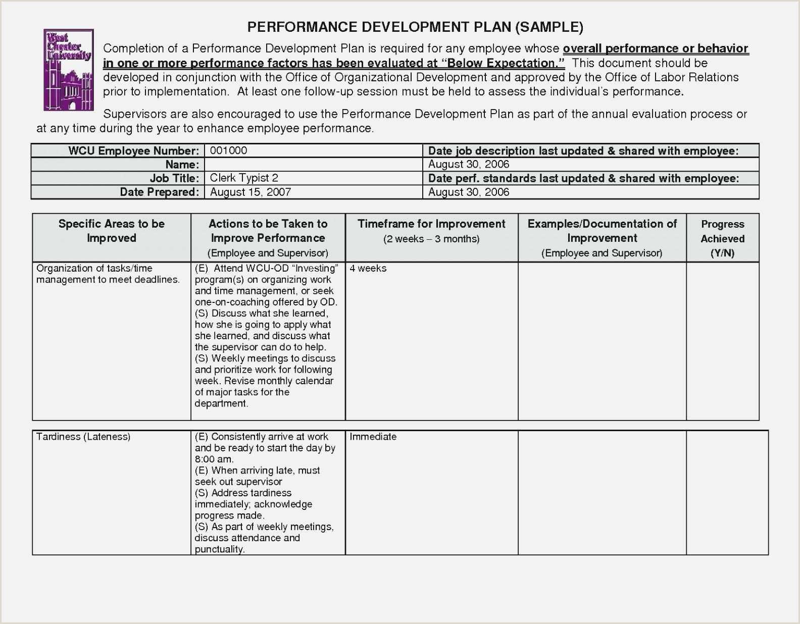 Free 022 Employee Development Plan Template Ideas Career