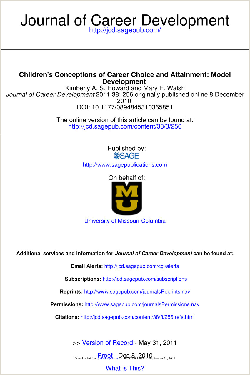 PDF Children s Conceptions of Career Choice and Attainment