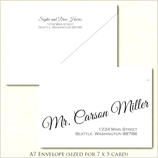 envelope format template