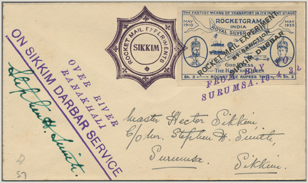Where to Write Address On Envelope In India Stamp Auction Rocket Mail Public Auction 37 Lot 5818