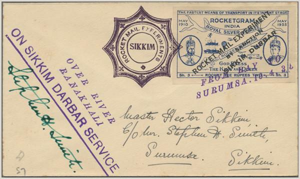 Stamp Auction rocket mail Public auction 37 lot 5818