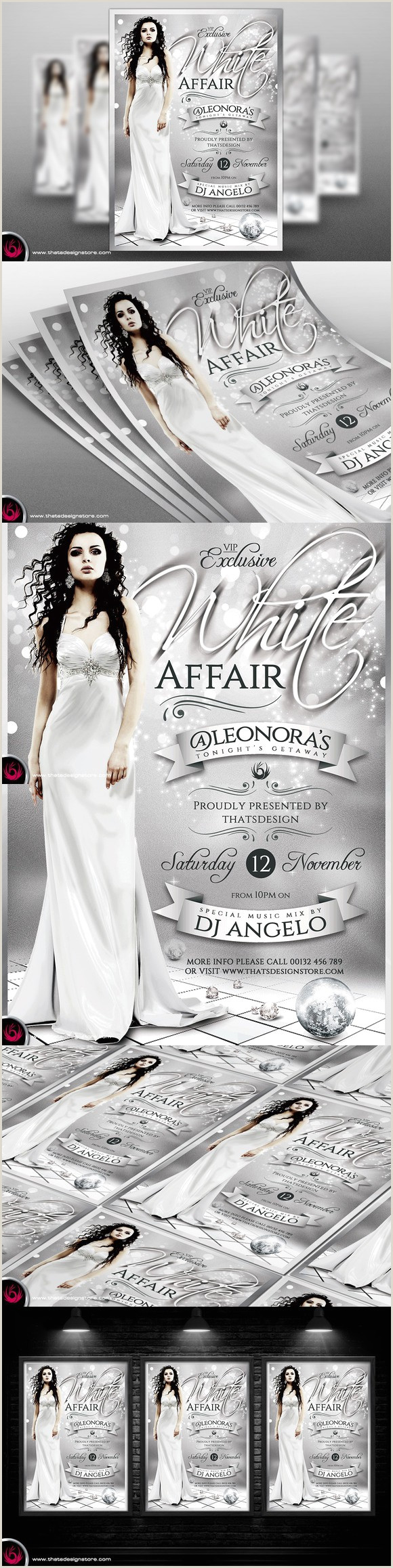 White Party Flyer White Party Flyer Template V2 Flyer Templates $9 00