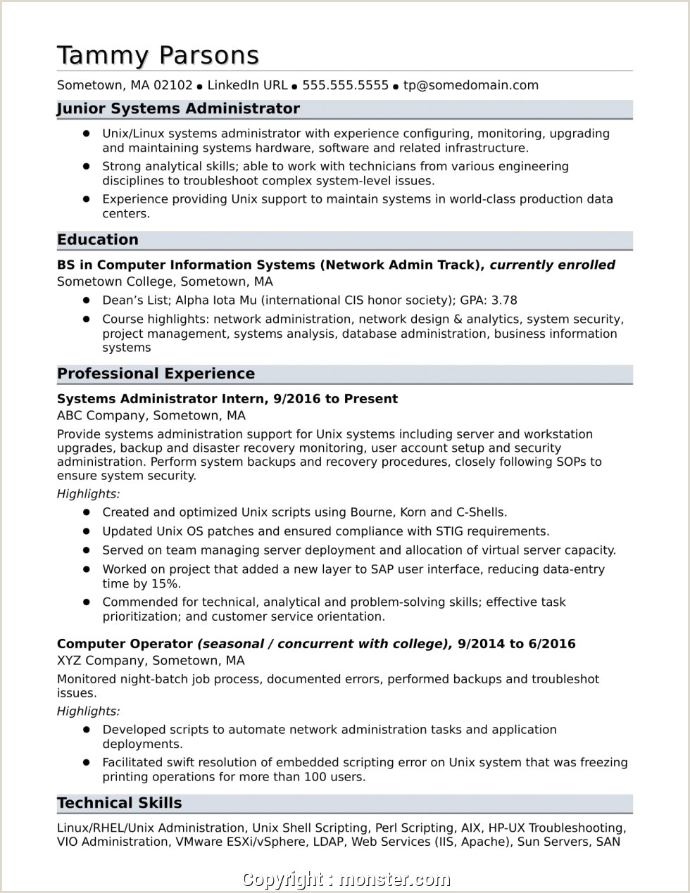 Windows Administrator Resume San Administrator Resume