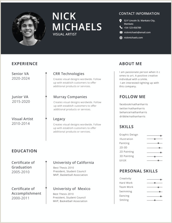 World Standard Cv format 47 Best Resume formats Pdf Doc