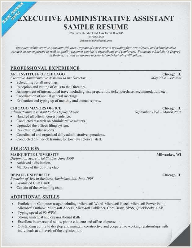 Administrative Resume Examples New Administrative assistant
