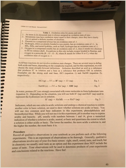 Writing And Balancing Chemical Equations Quiz Chem 1211 Lab Manual Revned Chemical Reactio