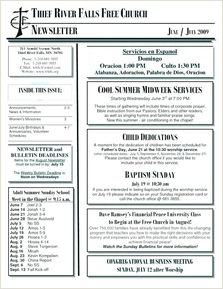 Church Summer Camp Newsletter Template Templates Weekly Free