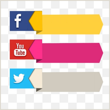 Youtube Banner Template Transparent social Media Colorful Banner Pack Set social social Media