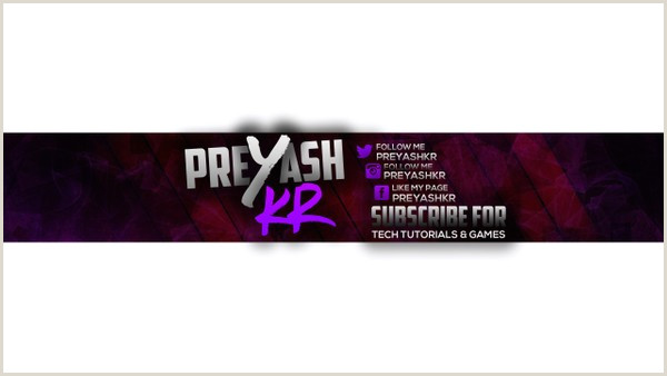 Youtube Gaming Banner Template Psd Preyashkr Amazing Youtube Banner Template Psd Preyashkr