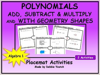 Adding and Subtracting Polynomials Color by Number Worksheet Answer Key