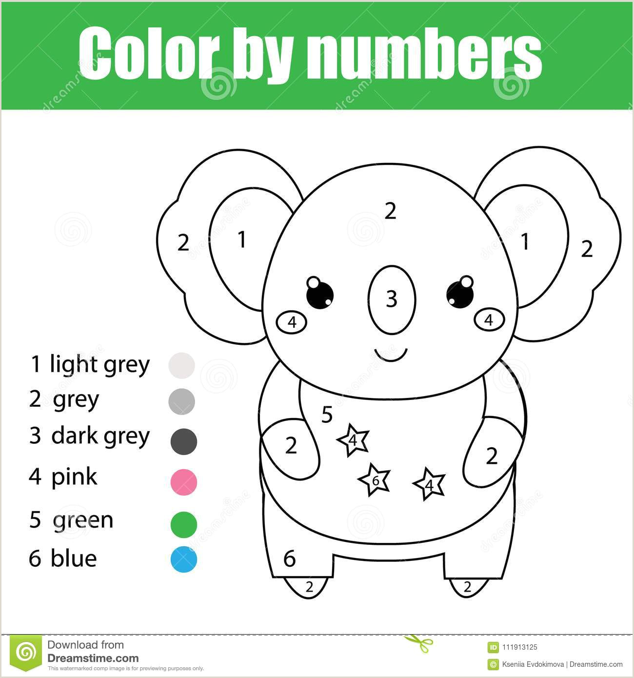 Basic Color by Number Worksheets