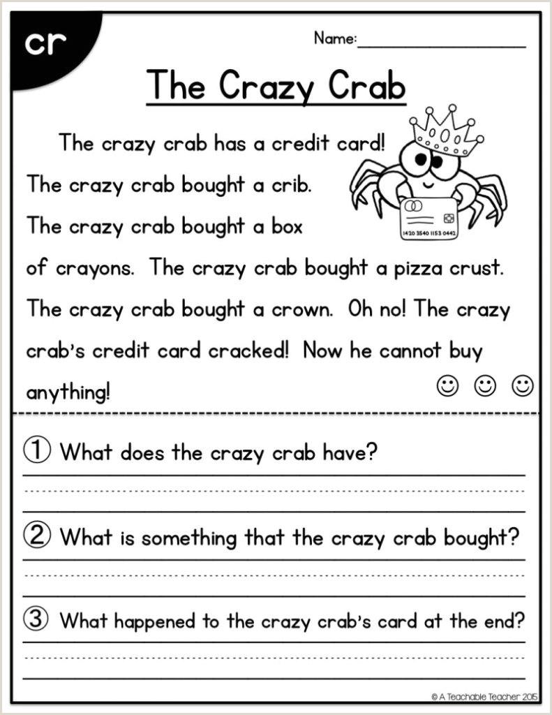 Beginner Kindergarten Reading Worksheets