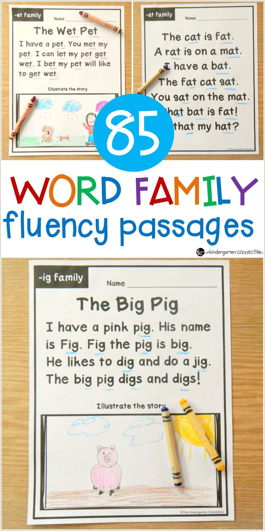 Beginning Reading Worksheets for Kindergarten Pdf
