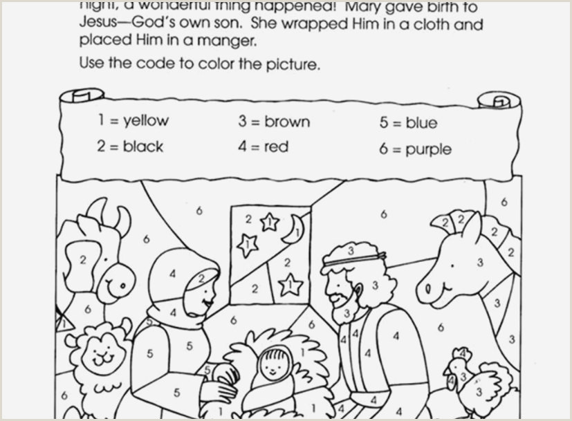 Bible Color By Number Worksheets