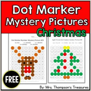 Christmas Color by Number Math Worksheets Free