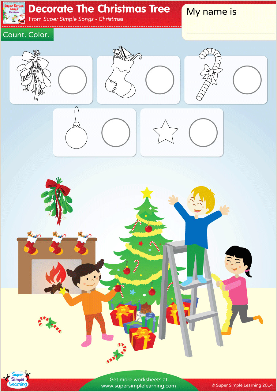 Christmas Color by Number Printables for Kindergarten