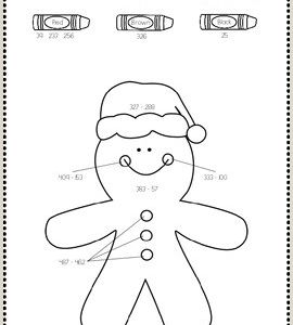 Christmas Color by Number Printables for Kindergarten