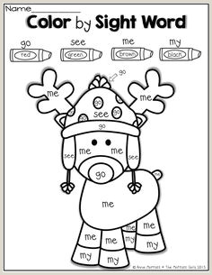 Christmas Color By Number Worksheets Kindergarten