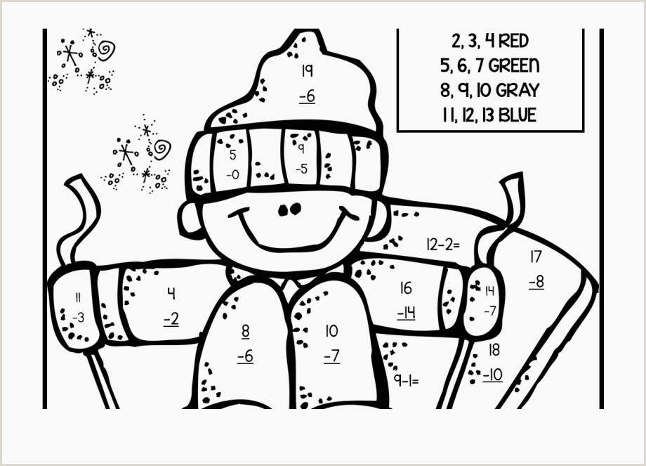 Christmas Multiplication Color by Number Printable Worksheets