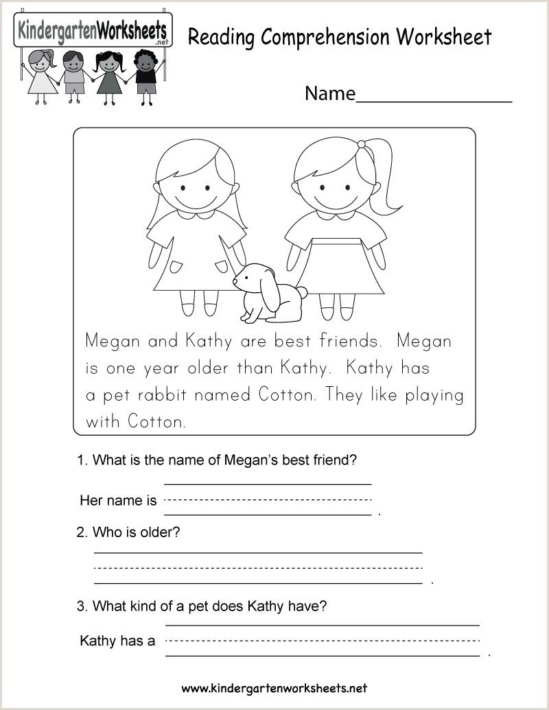 Christmas Reading Comprehension Worksheets Kindergarten