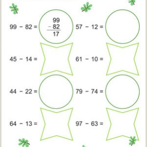 Color and Numbers Worksheets Pdf
