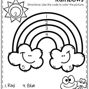 Color by Number Addition and Subtraction Worksheets Free