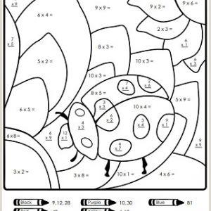 Color by Number Addition Worksheets 2nd Grade
