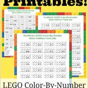 Color by Number Addition Worksheets Free