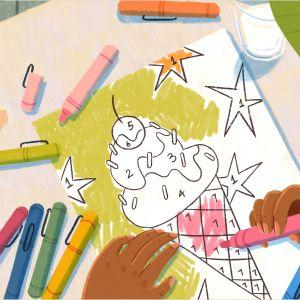 Color by Number Addition Worksheets Kindergarten