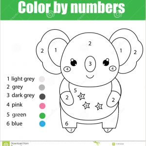 Color by Number Animal Coloring Pages