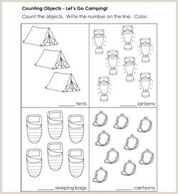 Color by Number Camping Worksheets