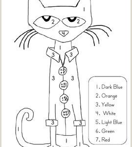 Color by Number Cat Coloring Pages