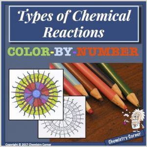 Color by Number Chemical Reactions Worksheet Answers