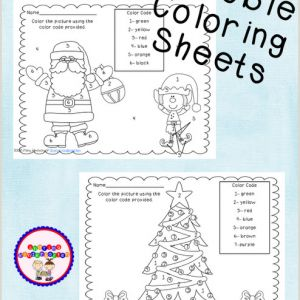 Color by Number Christmas Worksheets Free
