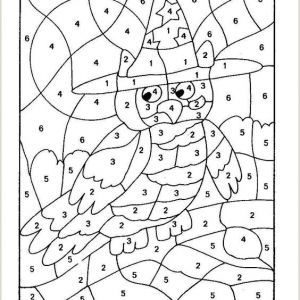 Color by Number Coloring Pages Easy
