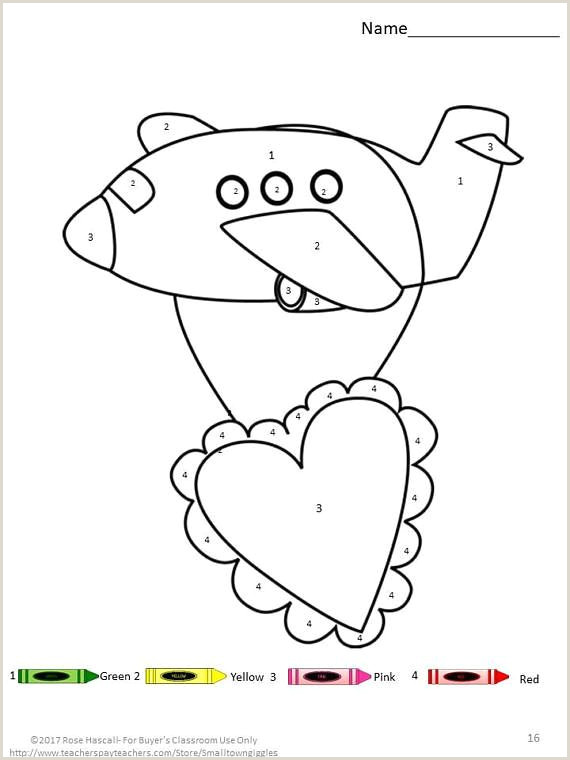 Color By Number Coloring Pages For Kindergarten